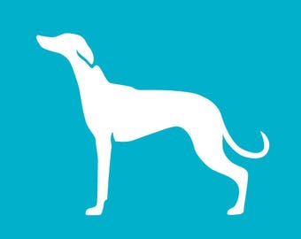Whippet Car Decal | Dog Breed Sticker | Dog Silhouette | Laptops | Tumblers | Boats | Trucks | Whippet Mom & Dad | I Love My Whippet
