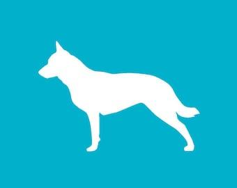 Australian Cattle Dog Car Decal | Dog Breed Sticker | Dog Silhouette | Laptops | Tumblers | Boats | Trucks | I Love My Aussie