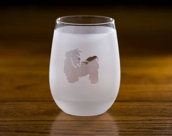 Shih Tzu Wine Glass Set | Birthday Gift for Dog Lover | Housewarming Present | Wine Drinker Gift | Customizable Glassware