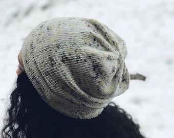 Hat Knitting Pattern Slouchy Beanie