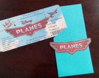 Disney planes Birthday decorations//Birthday Invitations//Plane Ticket