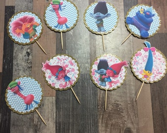 Trolls / Personalized Cupcake Toppers