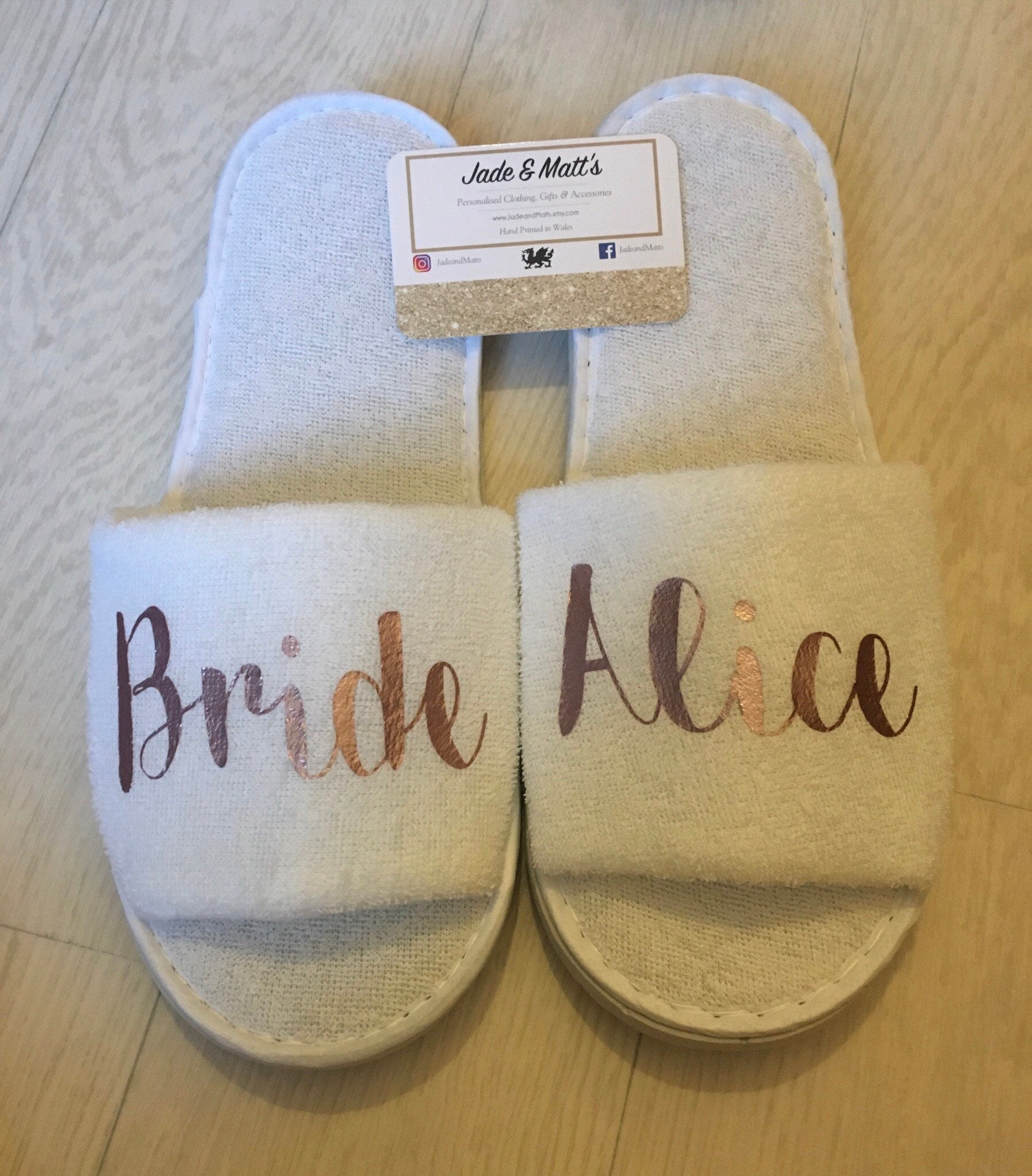 Wedding Morning Gifts For Bride: Bride Slippers Wedding Morning Slippers Personalised Spa