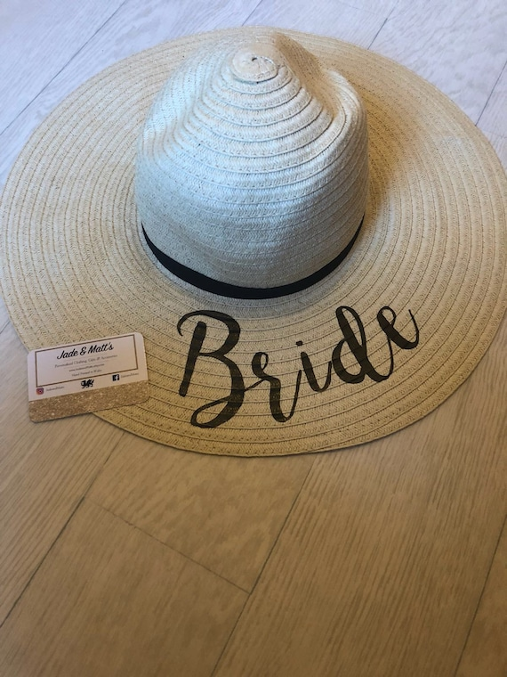 Personalised Bride sun hat future mrs hat bride to be  9b80bbfed51