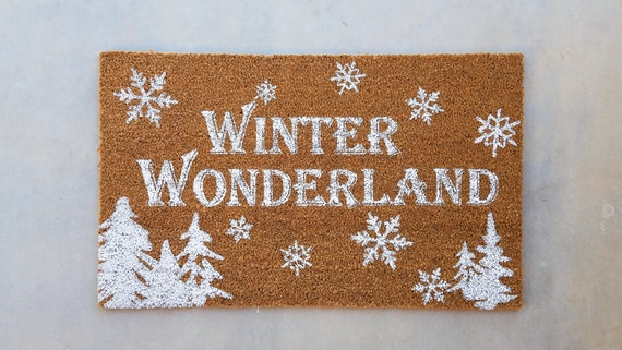 Winter Wonderland / Christmas Door Mat / Winter Door Mat / Outdoor Coir Mat / Designer Door Mat / Winter Decor