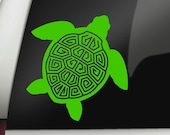 Tribal Sea Turtle v2 Permanent Vinyl Decal, Car Decal, Bumper Sticker, Window Sticker, Cup Decal, Tumbler Decal, Phone Decal, Computer Decal