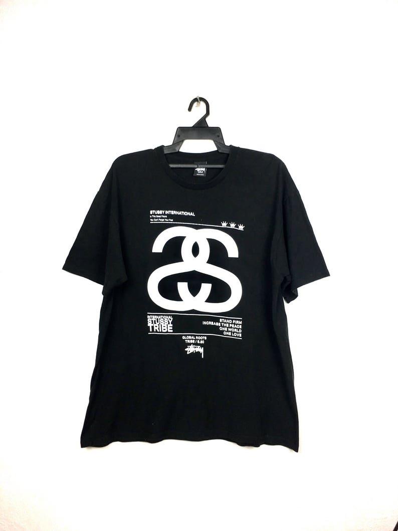 2a82e6c7c0a3 Vintage Stussy T-Shirt Big Logo Swag Hip Hop   Oversize Size L