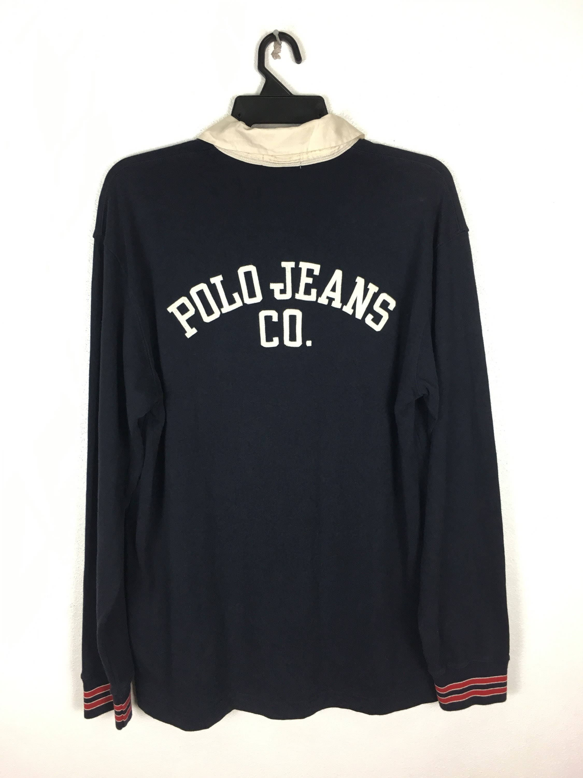 4a3df148d566f7 90 s Polo Jeans Co. Rugby manches sort longues chemise Ralph Lauren sort  manches Out