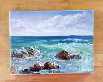 Pretty Little Seascape Original Oil Painting