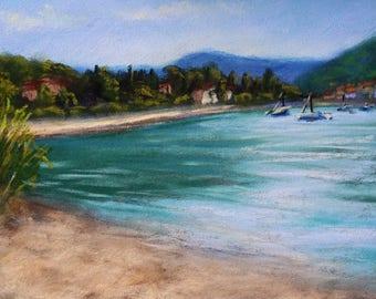 Garda, Italy | Small original pastel painting