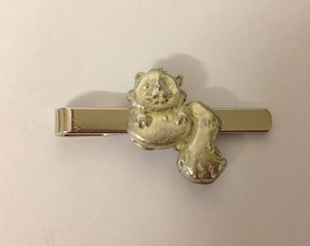 Chinese Boat GT158 Fine English Modern Pewter on a Tie Clip Made From English Modern Pewter slide