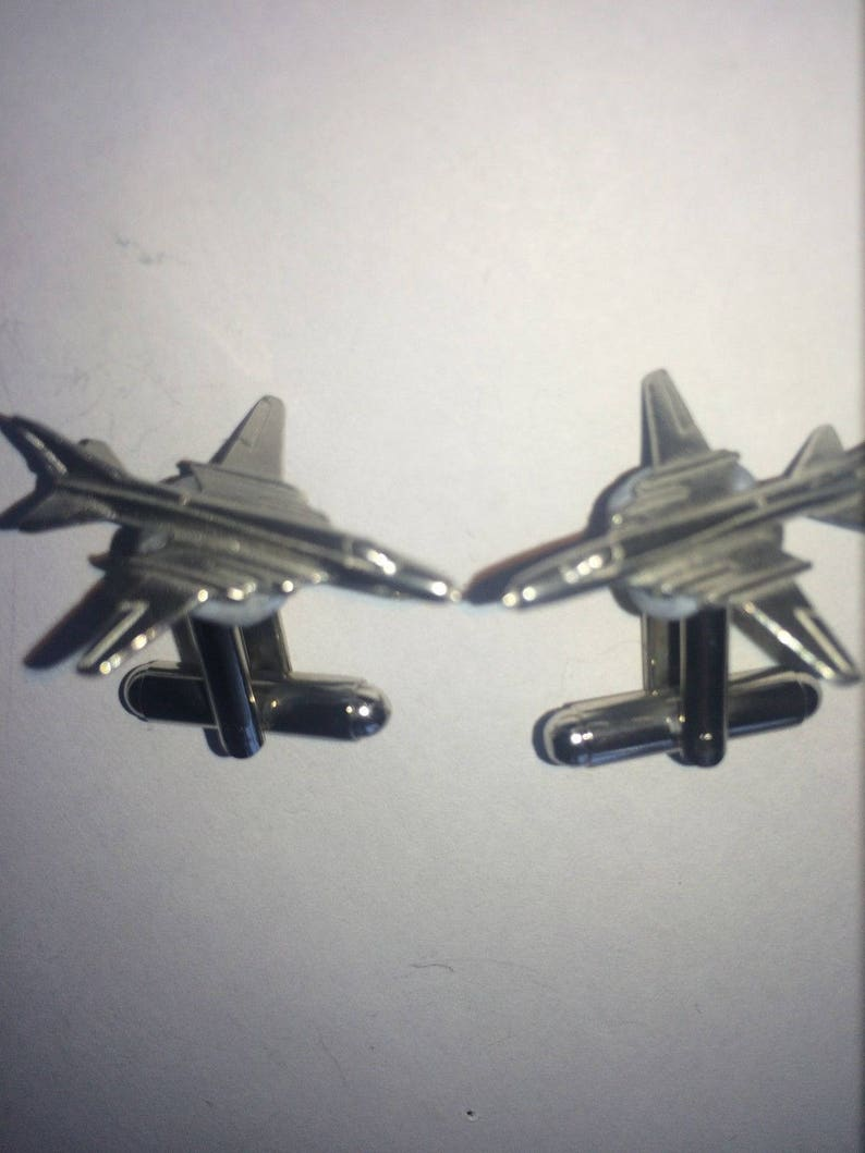 Vickers Viscount C53 Pair Of Cufflinks Made From Fine English Modern Pewter