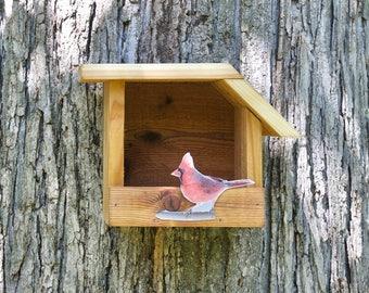 Northern Cardinal - Cedar bird house
