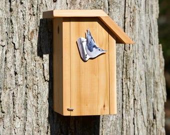 White-breasted Nuthatch Cedar Bird House