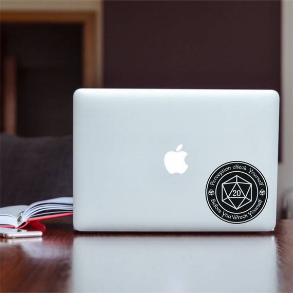 cars tablet laptops iphones macbooks D20 dice minimalist decal sticker decal for windows mugs