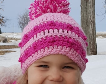 Jovie: Crochet hat for infants, toddlers, and children