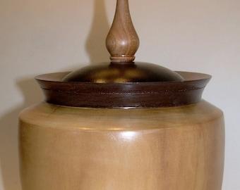 Maple Urn with Walnut