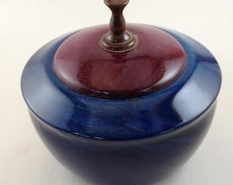 Dyed Wood Turned Lidded Bowl