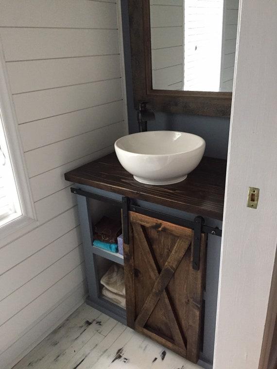 Barn Door Vanity by Etsy