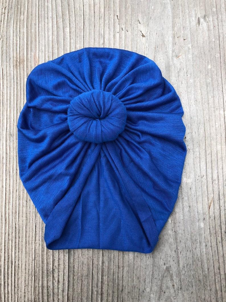 Patriotic Blue turban headwrap baby turban