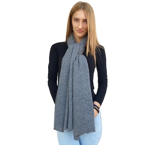 Nero PASHMINA Cashmere di alta qualità Donne Moda Plain Wrap scialle sciarpa