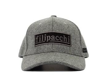 939c265a8aa93 Filipacchi Wool Baseball Cap - Logo - Heather Gray