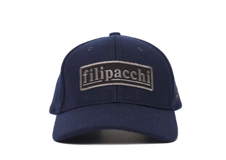 ee7d11f84 Filipacchi Wool Baseball Cap Logo Navy   Etsy