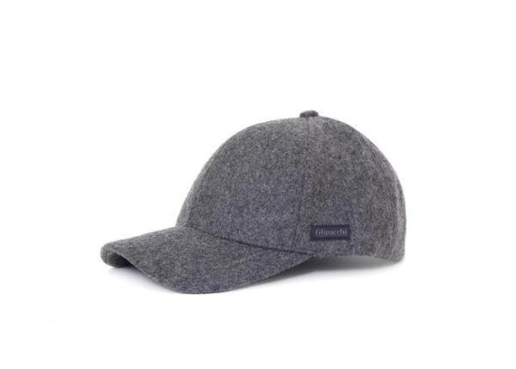 124b255b013 Filipacchi Baseball Cap Dark Gray Wool