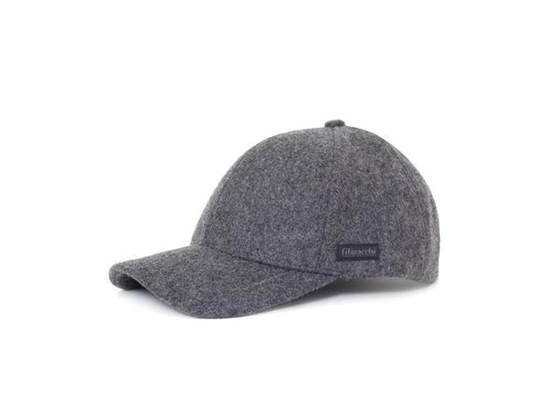 5df79463b Filipacchi Baseball Cap Dark Gray Wool   Etsy