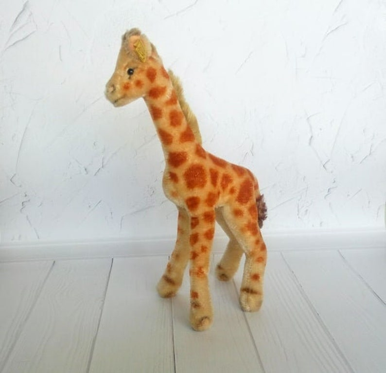 Vintage Steiff Giraffe 0750/28 Button Tag Steiff ANIMAL Antique steiff Original Top Rar Mohair animal Vintage toy