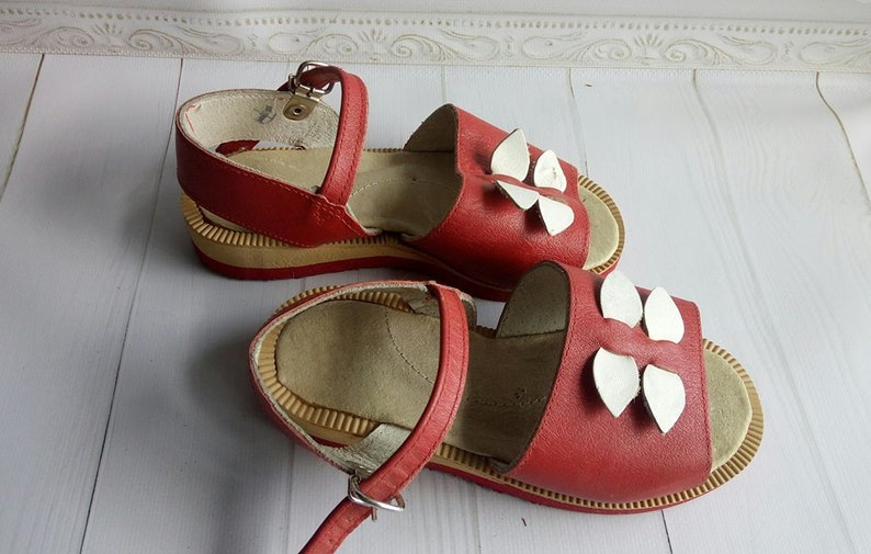 Vintage Leather Baby sandals Old Baby Shoes Leather Kids boots Soviet baby shoes Retro boots Vintage Decor Kids room decor Antique shoes