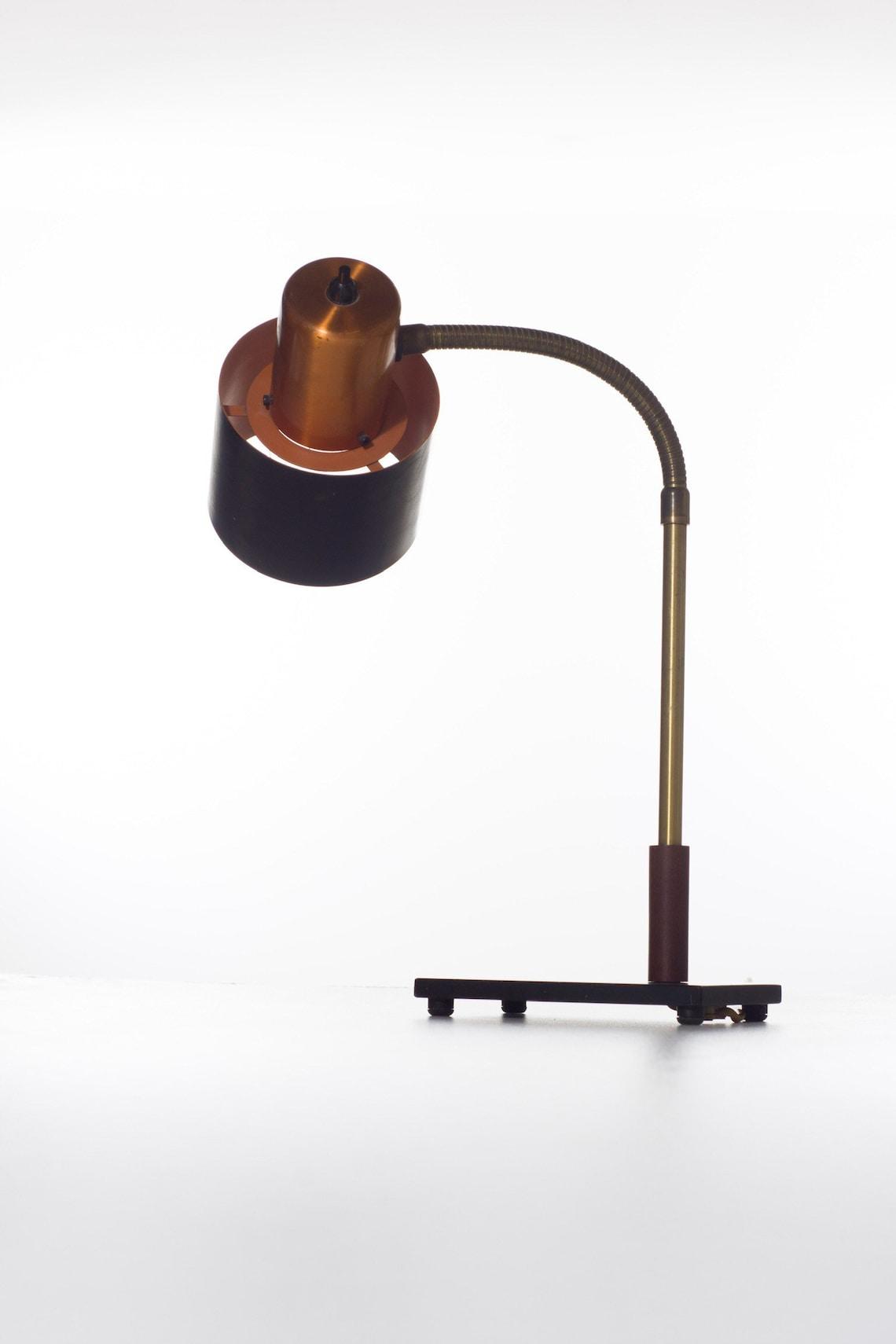 Image of: Jo Hammerborg Danish Vintage Copper Desk Lamp Beta For Fog And Morup Mid Century Modern Desk