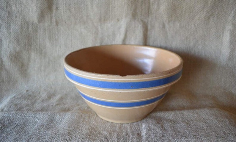 Antique Yellow Ware bowl  Yellow Ware #5 Mixing bowl