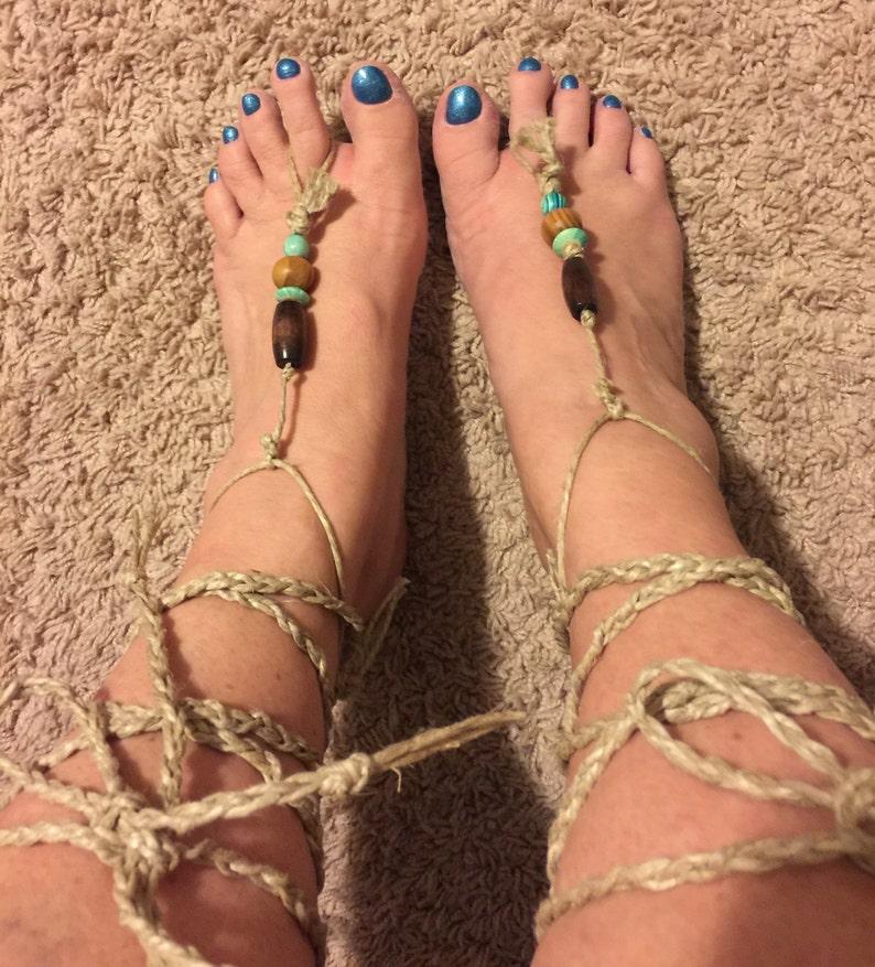 Barefoot sandals beach swimwear renaissance medieval