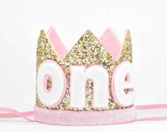 Birthday Party Hat | Birthday Crown | Birthday Girl Outfit | Baby Birthday Crown | Girl Birthday Crown | Gold Crown | Cake Smash