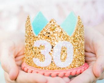 Adult Birthday Crown Adult   Flirty Thirty Birthday Crown For Adult   30th Birthday For Her   Thirtieth Birthday Crown   Dirty 30 Birthday