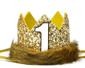 Wild Thing Birthday Crown of Glitter | Where The Wild Things Are Party Supplies | Max Birthday Crown Costume | Jungle Birthday Party
