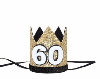 60th Birthday Crown Party Hat Sixtieth Customize Any Number