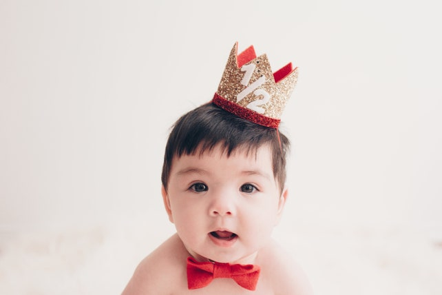Half Birthday Boy Crown