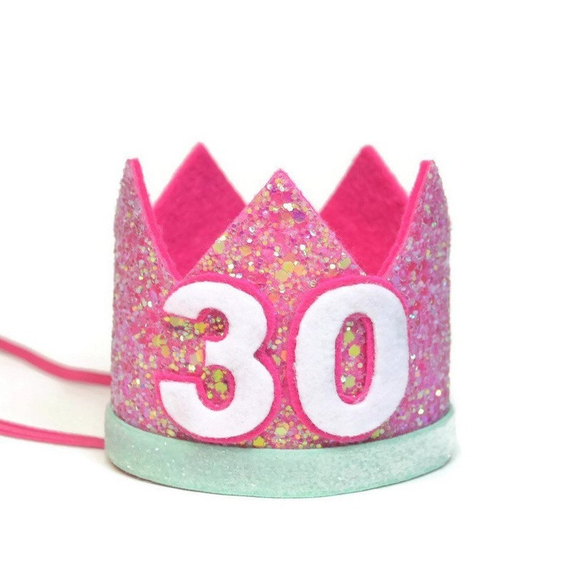 30th Birthday Party Hat Adult Crown