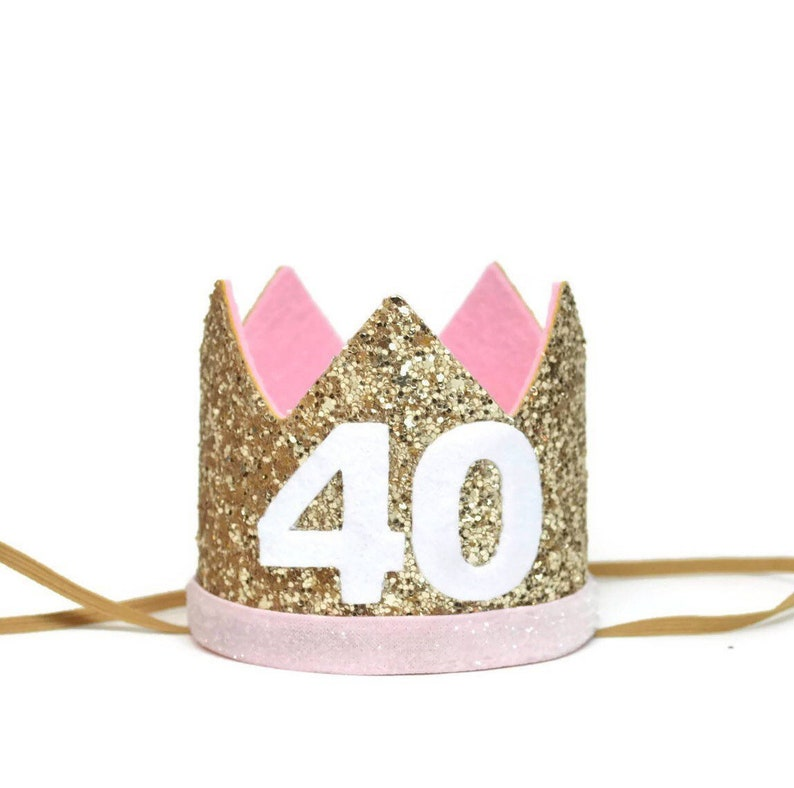 40th Birthday Party Hat Adult Crown