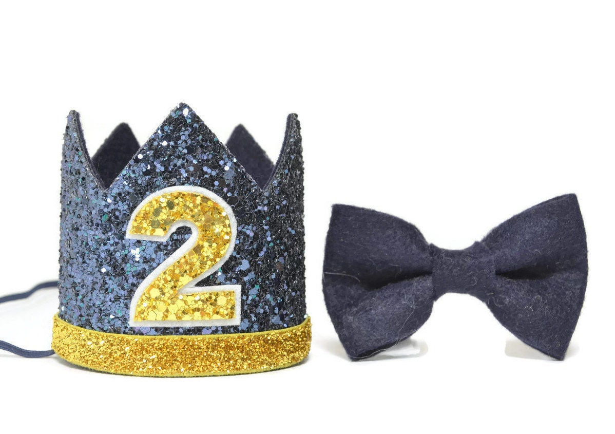 Second Birthday Boy Crown 2nd Party Hat