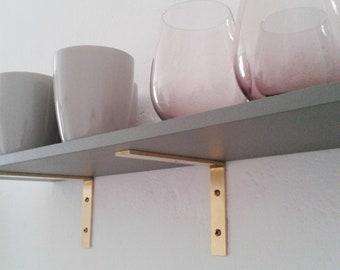 Merveilleux Brass Angle Brass Brackets For Wall Shelf 15 Cm