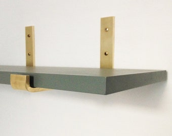 Brass Angle Brass Brackets L Form For Wall Shelf 20 Cm