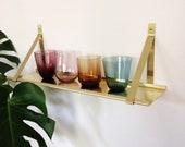 brass shelf triangle brass brackets Brass shelf