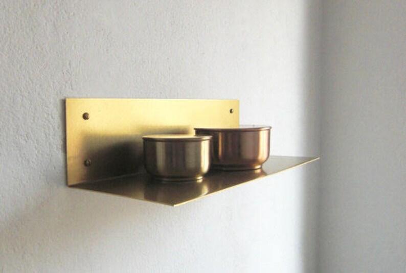 new arrival 660c6 b5a8e Brass wall shelf brass wall shelf 40 long