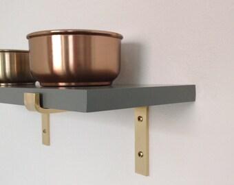 15 cm brass angle brass bracket for wall shelf