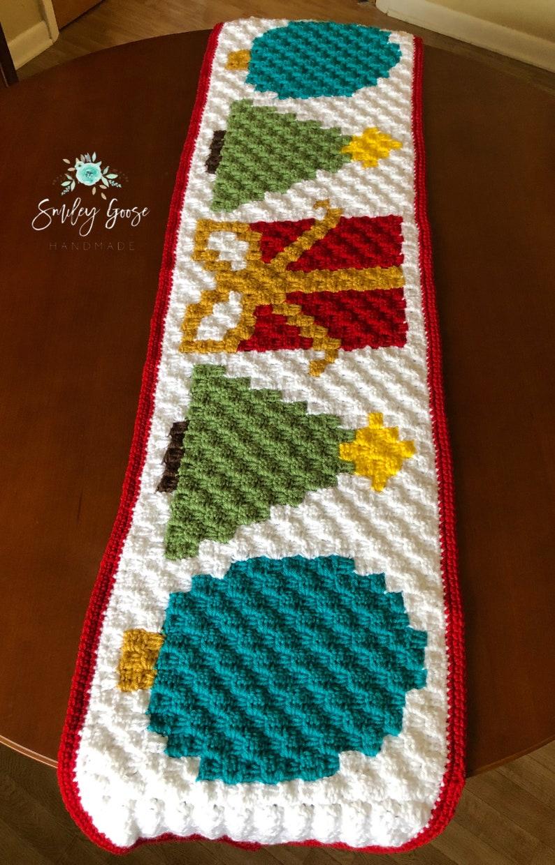 Christmas Table Runner Christmas Table Decor Crochet Christmas Decor Crochet Table Runner Holiday Table Decor Christmas Decorations