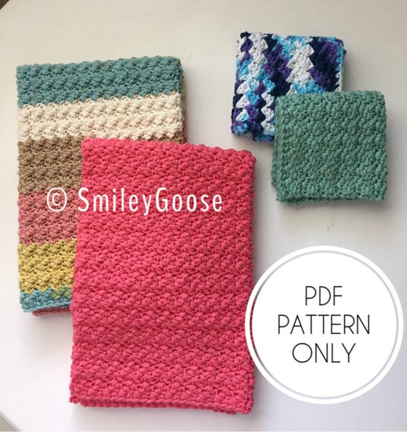 Crochet Dishcloth Kitchen Towel Pattern Modern Dishcloth Etsy Magnificent Crochet Kitchen Towel Pattern