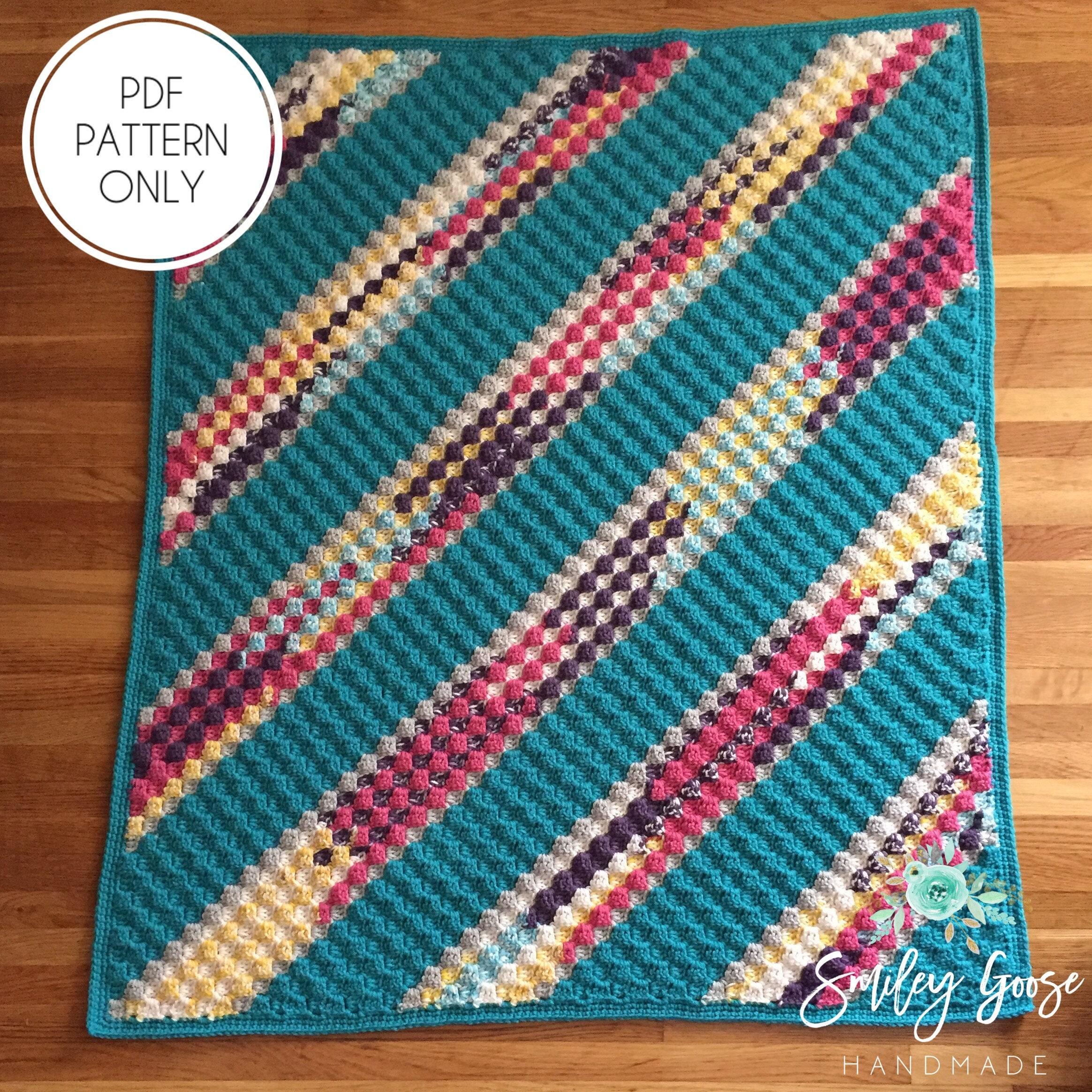 Crochet Baby Blanket Pattern Paola Baby Blanket C2c Crochet Etsy